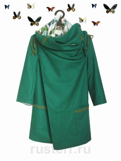 Пальто oversize с бабочками
