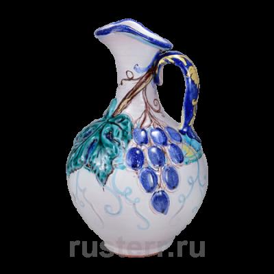 Кувшин грузинский 1,8 л + виноград + глазурь
