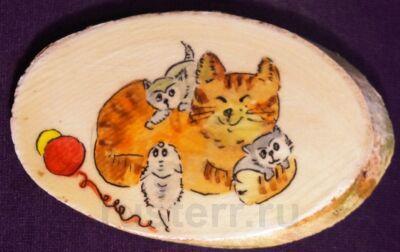 """Магнит """"Кошка и котята"""""""