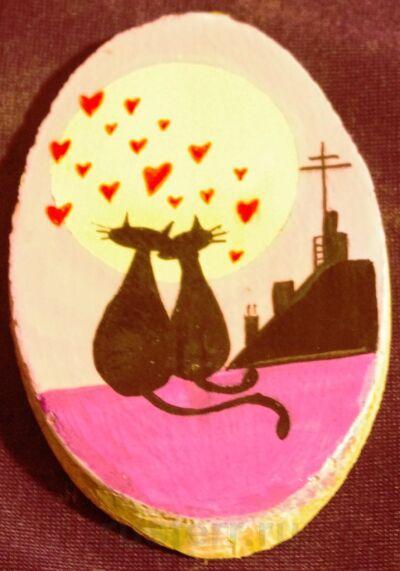 """Магнит """"Влюбленные коты"""""""