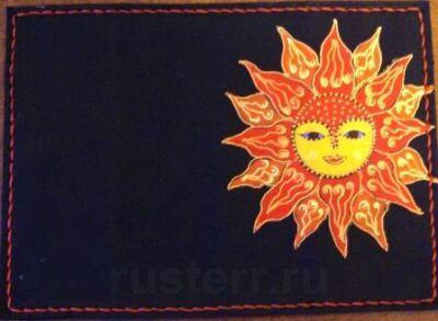 """Обложка для паспорта """"Солнце"""""""