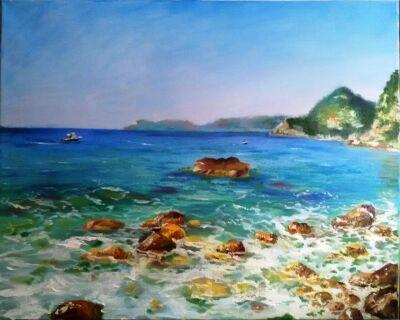 """Картина маслом """"Вид с острова Святого Иоанна"""""""
