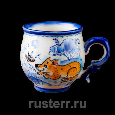 """Чашка кофейная 100 мл роспись """"Лисёнок"""""""