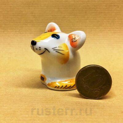 Мышка жёлтая (фарфор)