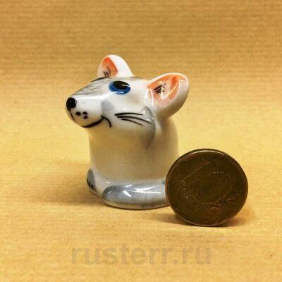 Мышка серая (фарфор)