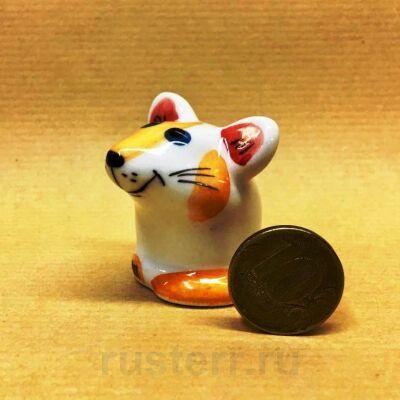 Мышка оранжевая (фарфор)