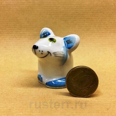 Мышка голубая (фарфор)