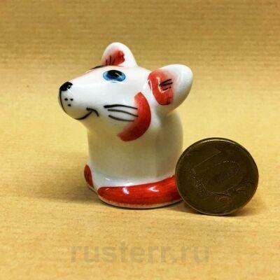 Мышка красная (фарфор)