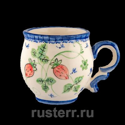 """Чашка кофейная 100 мл роспись """"Ягодки"""""""
