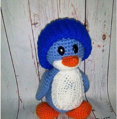 Вязаная игрушка Пингвин Лоло